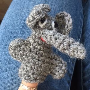 Other - Knit Elephant Finger Puppet